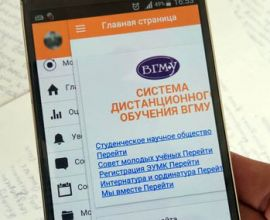 Mobile app for System of Distance Education VSMU