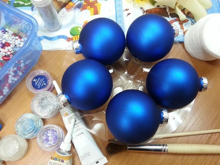 Ёлочные шары своими руками мастер класс фото